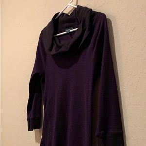 LRL Ralph Lauren Jean Co. Purple striped black top